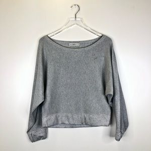 Zara Knit Oversized Long Crop Sweater Size S
